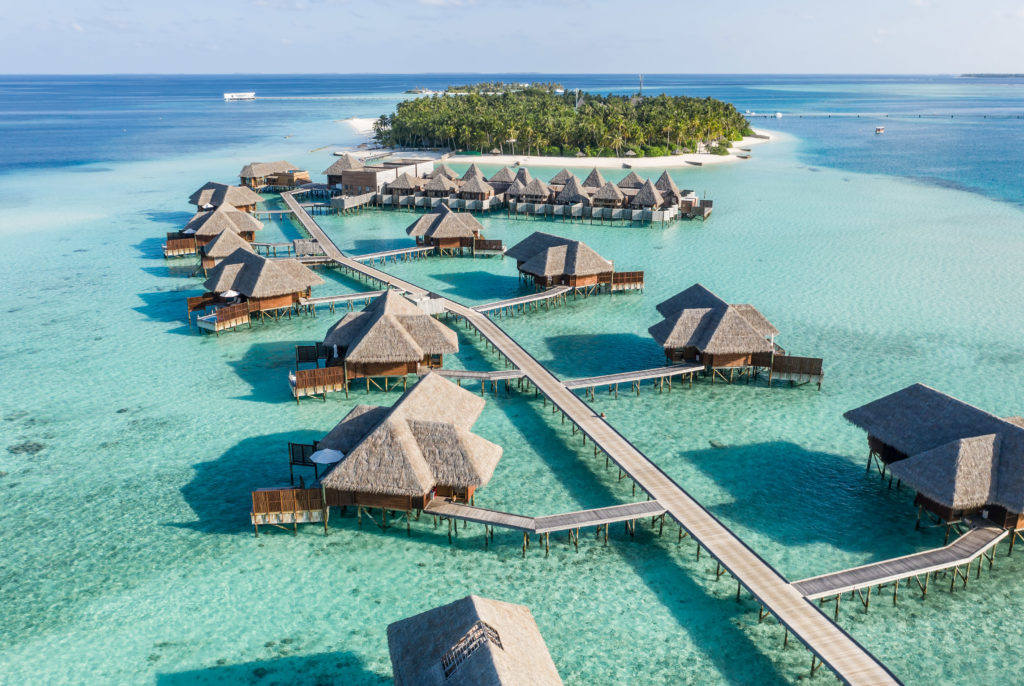 CONRAD MALDIVES - Hero_Aerial_The Spa Retreat_Rangali Finolhu Island_credit Justin Nicholas - hi-res