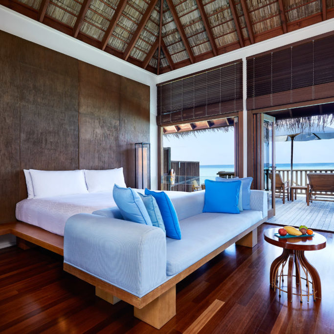 CONRAD MALDIVES RANGALI ISLAND_Villas_Retreat Water Villa Bedroom_ credit Justin Nicholas - hi-res